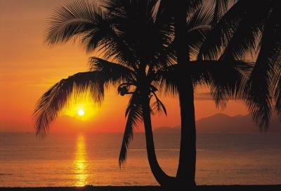 Fototapeta západ slunce na Palm Beach