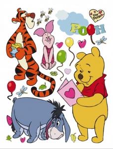 Dětská dekorace na zeď Medvídek Pú a přátelé