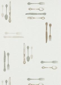 Tapety do kuchyně a koupelny Příbory hnědá