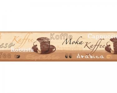 Samolepící bordury na zeď Koffie Moka
