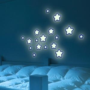 Pěnové samolepící svítící dekorace hvězdy