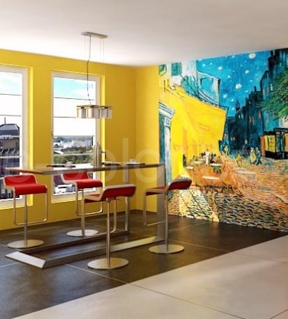 Fototapety na zeď Terrasse de Café la Nuit