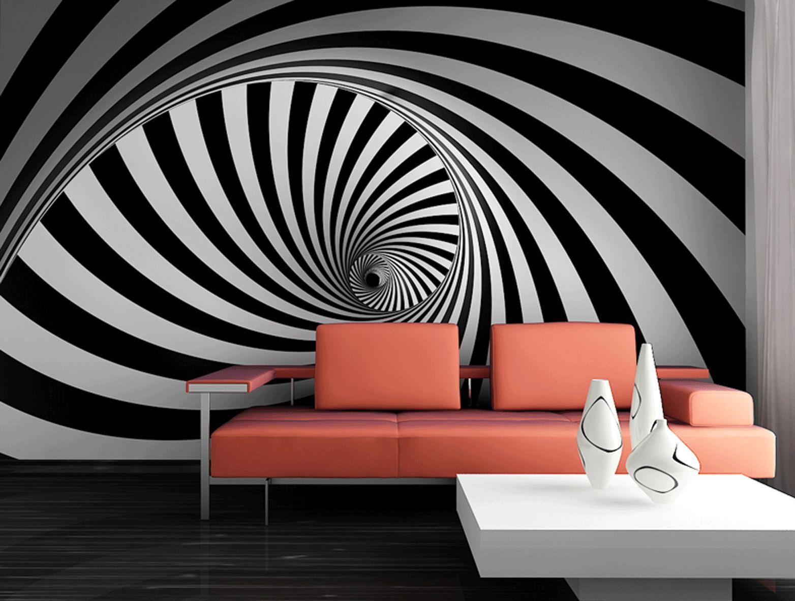 Fototapeta na zeď Černo bílá Spirála Vlies