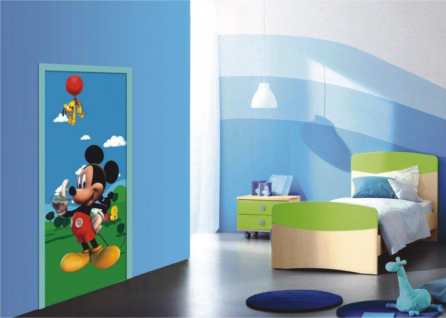 Dětská Fototapeta na zeď Mickey Mouse a pes Pluto vlies