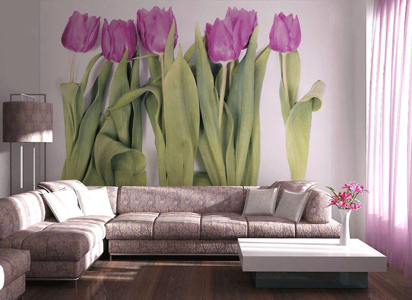 Fototapety na zeď Fialové tulipány