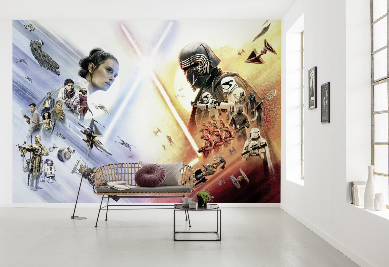 Fototapeta Star Wars - Hvězdné války, Rey a Kylo Ren