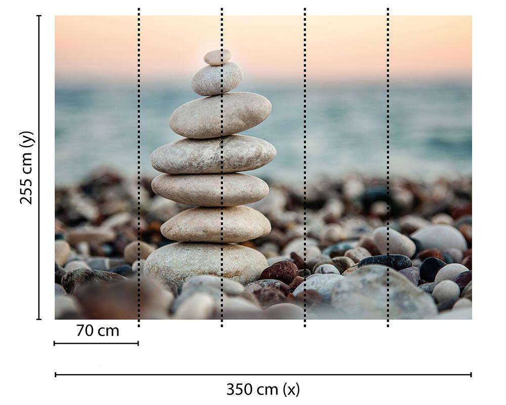 Fototapeta Vlies Livingwalls Kameny na pláži
