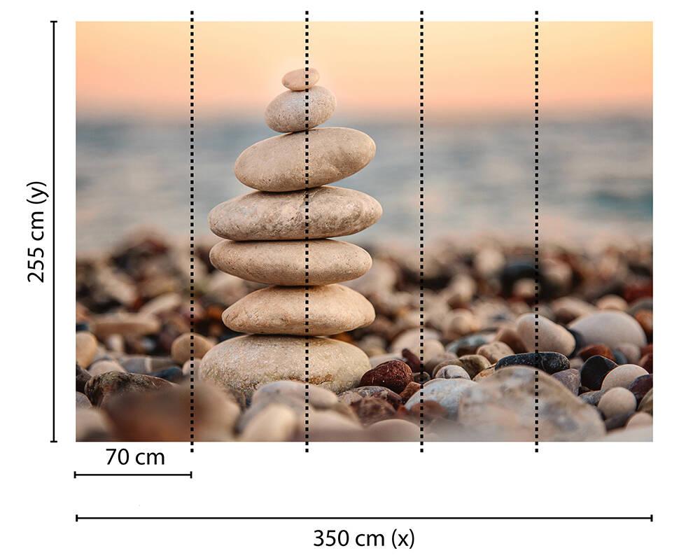 Fototapeta Vlies Livingwalls Kameny na pláži soft