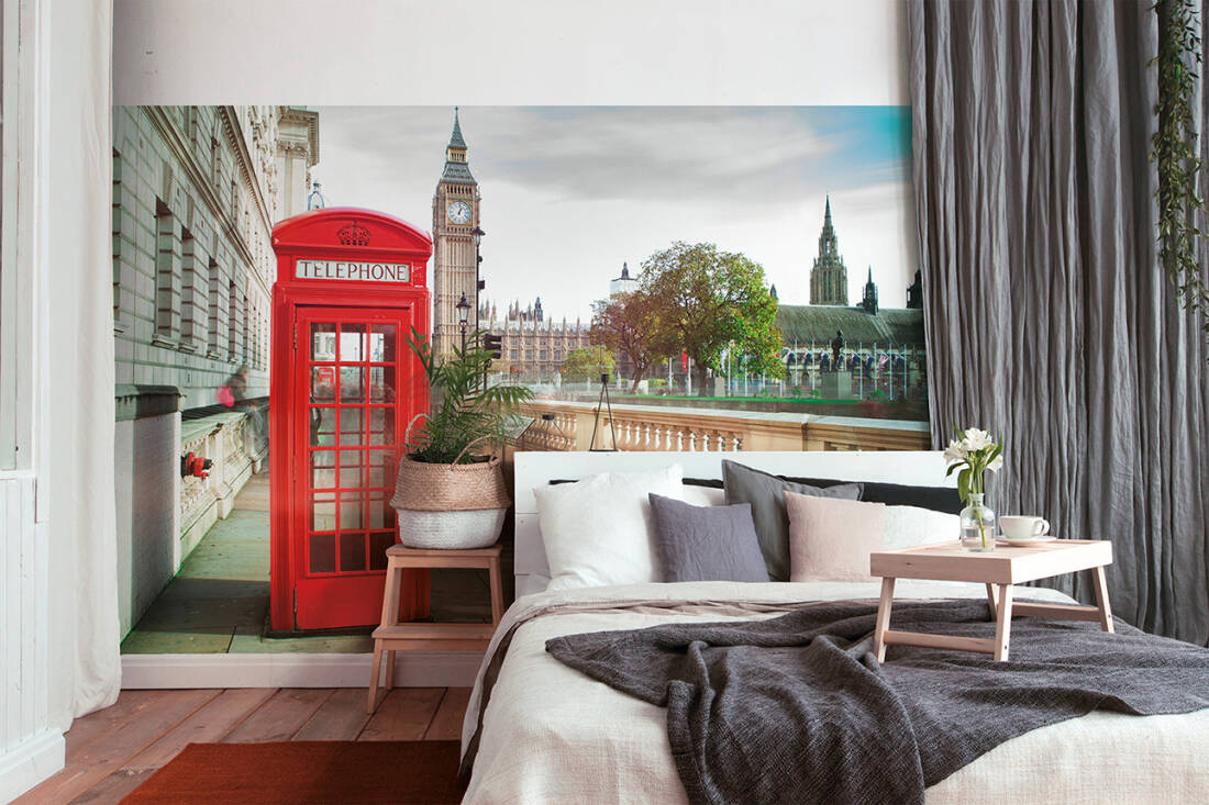Fototapeta Vlies Livingwalls Londýnská telefonní budka