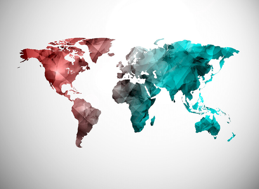 Fototapeta Vlies Livingwalls WorldGraphic2 - Mapa světa