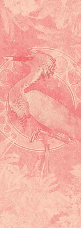 Fototapeta Heritage Grue - Růžový Jeřáb