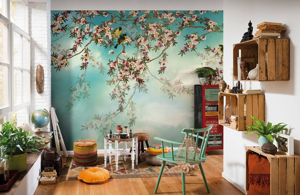 Fototapeta na stěnu Sakura a ptáčci