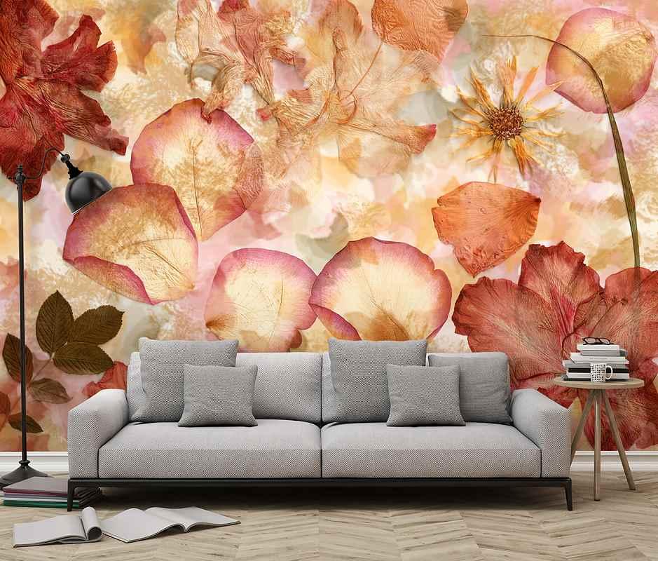 Fototapeta vlies Sušené květy