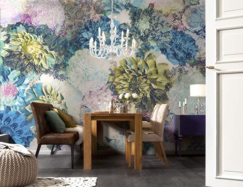 Fototapety na zeď Rozverné květiny