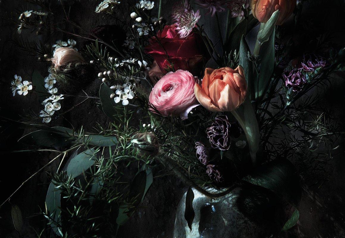 Fototapeta Romantické květinové zátiší