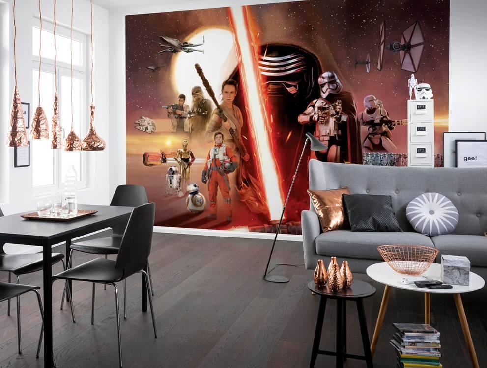 Fototapeta Star Wars - Hvězdné války, koláž epizoda 7