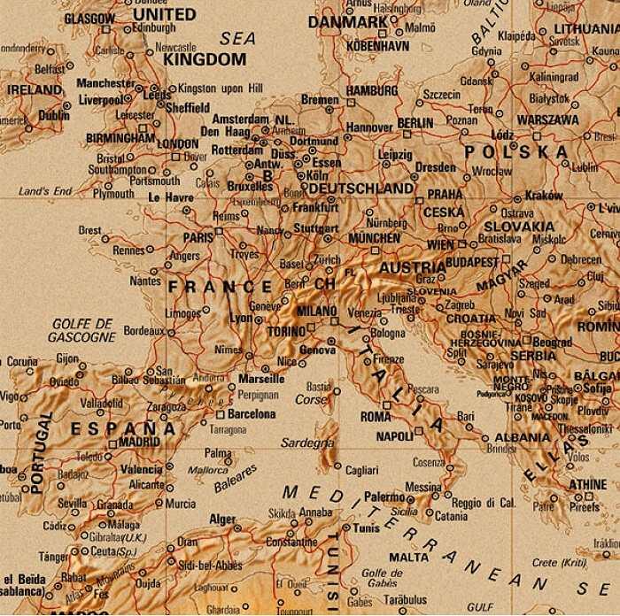 Fototapeta Mapa pohoří