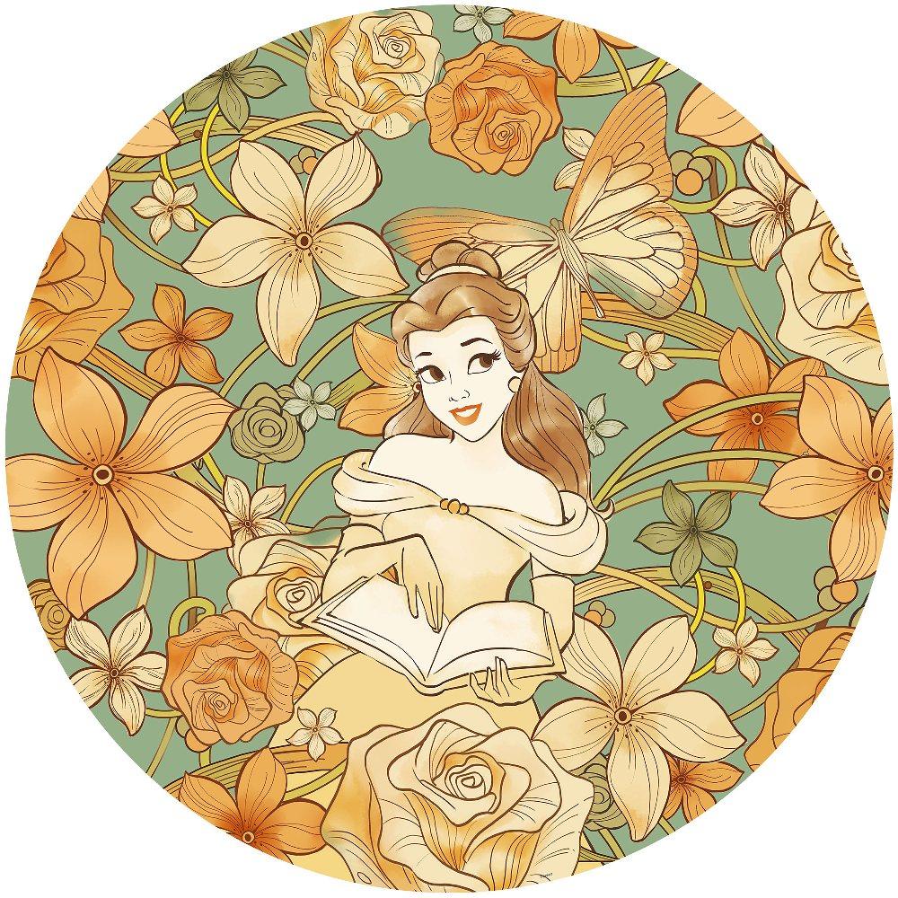 Samolepící fototapeta kruh - Disney Kráska a zvíře, Bella