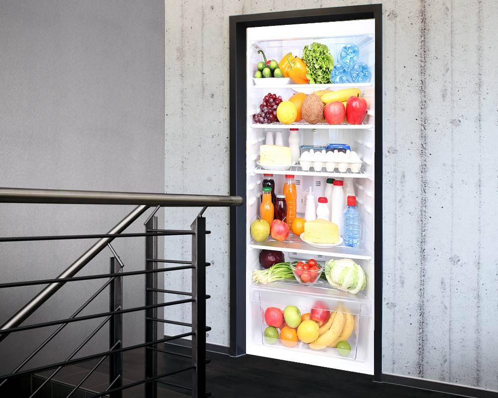 Fólie na renovaci dveří Lednička