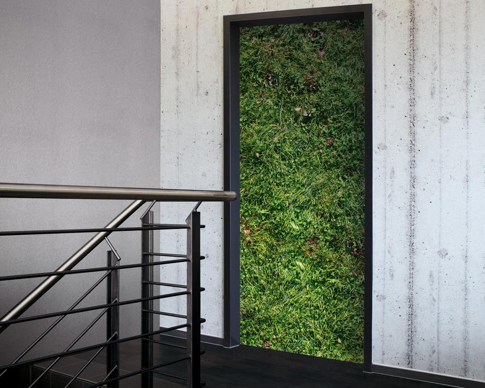 Fólie na renovaci dveří Zeleň