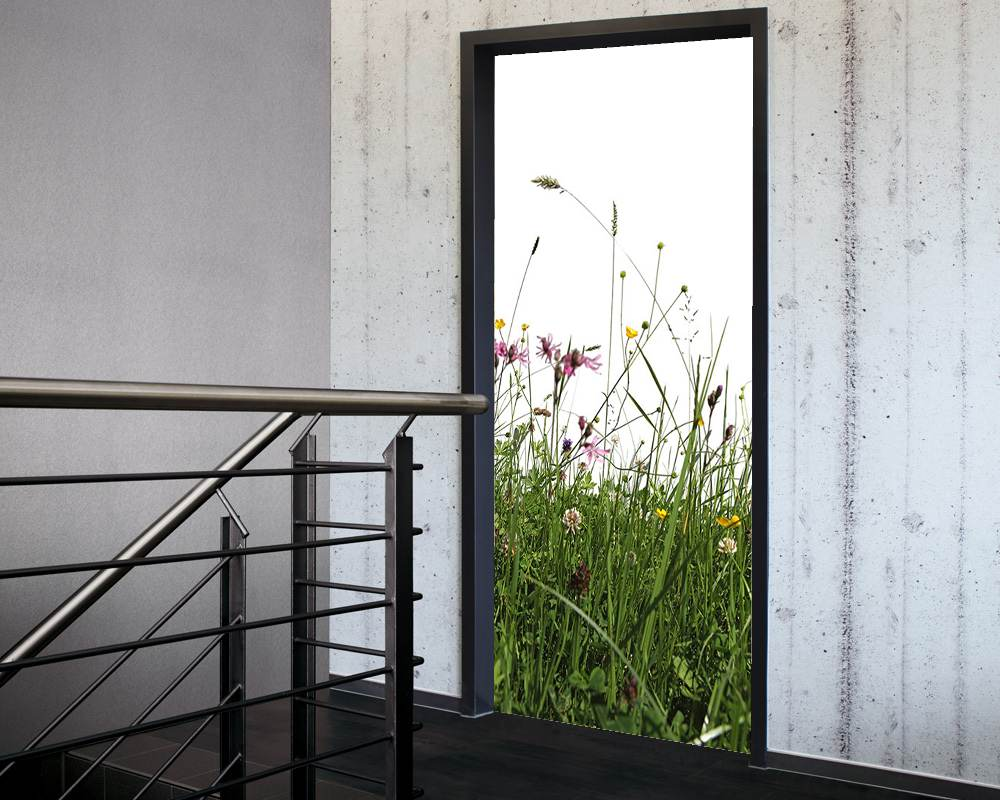 Fólie na renovaci dveří Louka