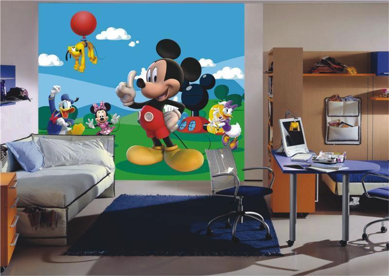 Dětská Fototapeta na zeď Mickey Mouse a kamarádi