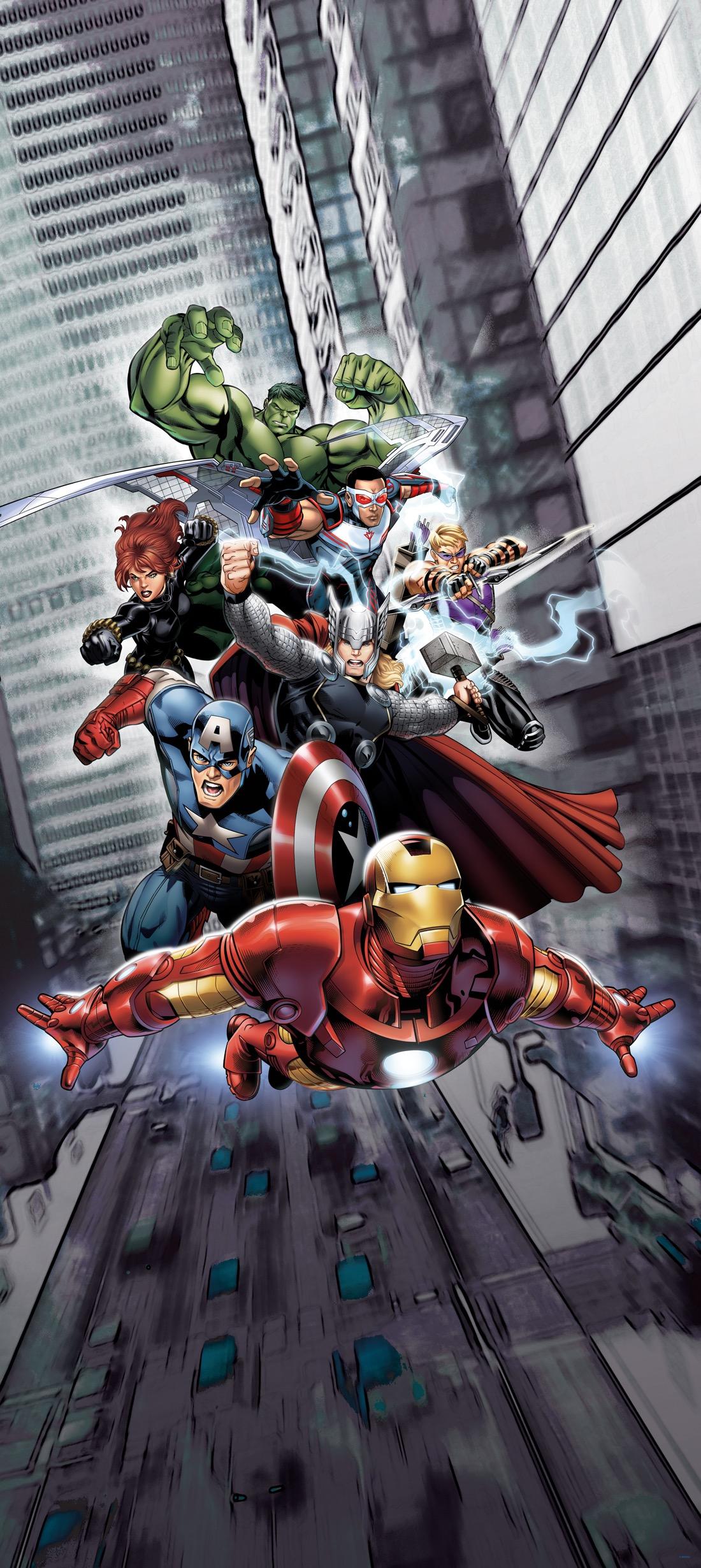 Dětské fototapety Marvel Avengers hrdinové