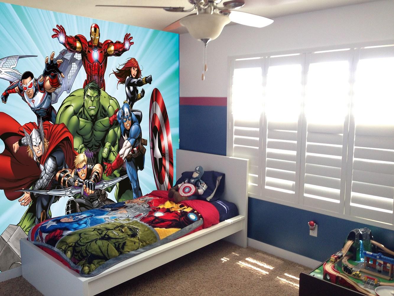 Dětská fototapeta Hulk a hrdinové Marvel Avengers