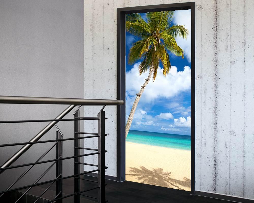 Fólie na renovaci dveří Pláž