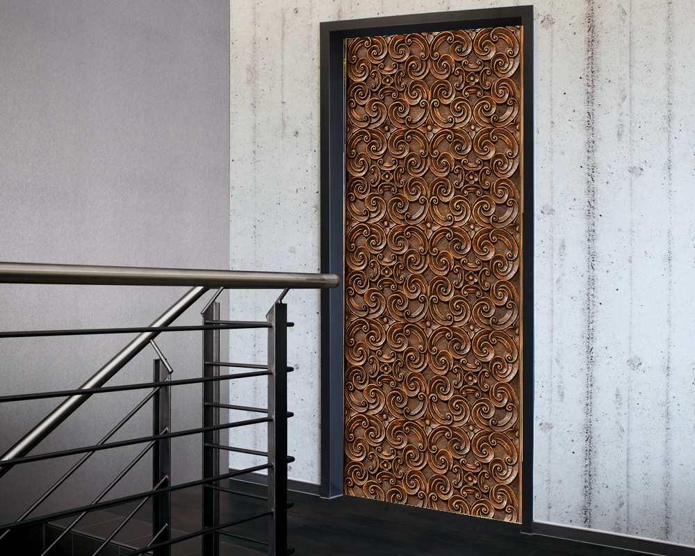 Fólie na renovaci dveří Řezba