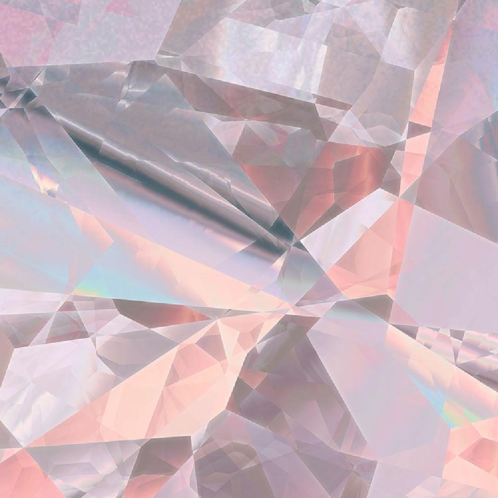 Samolepící fototapeta kruh - Bauhaus Třpitivé krystaly