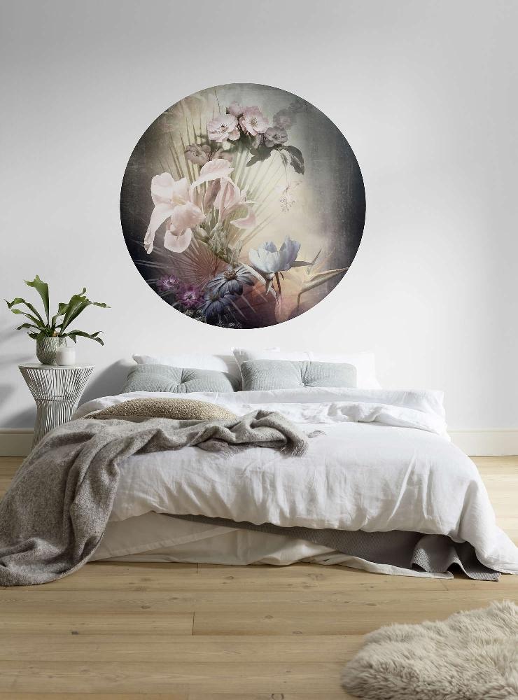 Samolepící fototapeta kruh - History of Arts - Vlámský květ