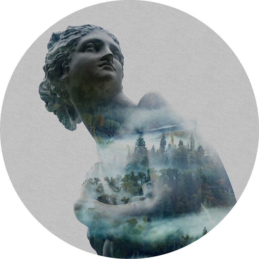 Samolepící fototapeta kruh - History of Arts - Gaia