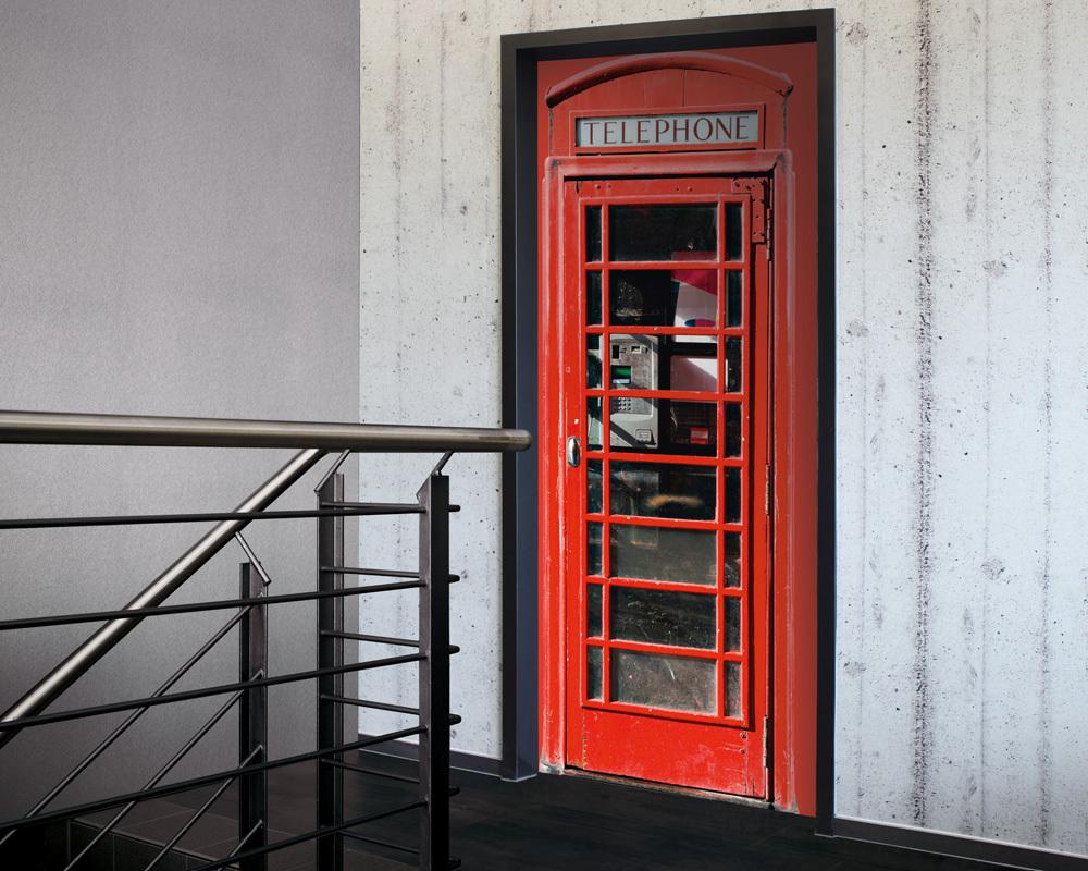 Fólie na renovaci dveří Telefonní budka Londýn