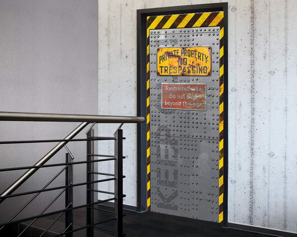 Fólie na renovaci dveří Vstup zakázán