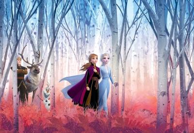 Dětská fototapeta Ledové království Královské sestry Elsa a Anna