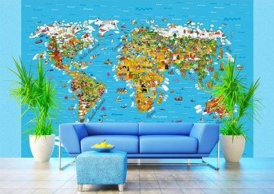 Dětská fototapeta Mapa světa