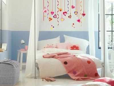 Dětské dekorace na zeď Srdce
