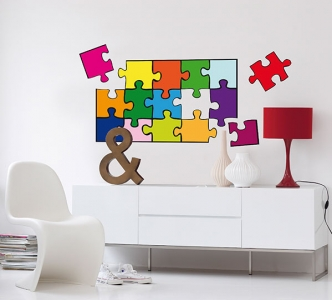 Dětské dekorace na zeď Puzzle