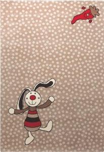 Dětský koberec Duhový králíček hnědá