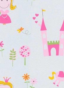 Dětské papírové tapety Lotta princezny růžová