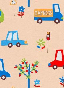Dětské papírové tapety Lotta autíčka modrá