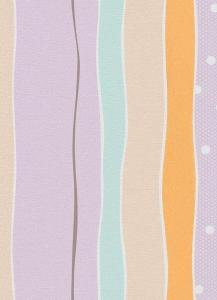 Dětské papírové tapety Lotta proužky fialová