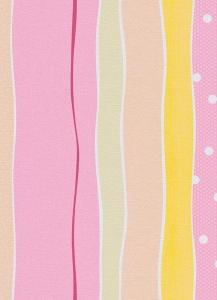 Dětské papírové tapety Lotta proužky růžová