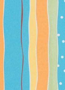 Dětské papírové tapety Lotta proužky tyrkysová