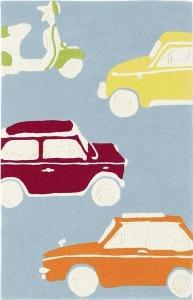 Dětské koberce Retro auta