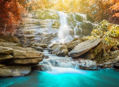 Fototapeta Vlies Livingwalls Vodopád - waterfall