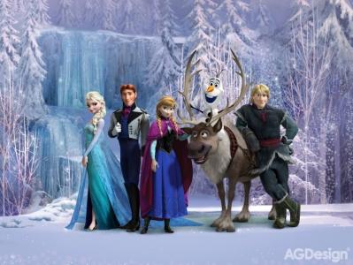 Dětská vlies fototapeta Frozen family
