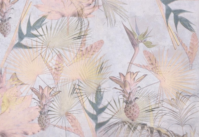 Fototapeta Tropické květy malba