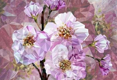 Fototapeta kvetoucí drahokamy